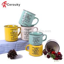 Taza de imitación de cerámica promocional del esmalte de la venta caliente