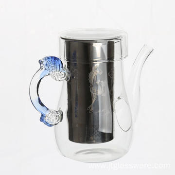 Glass Teapot With Stainless Steel Infuser / Glass Infuser