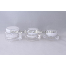 Square transparent acrylic cream jar 15ml 30ml 50ml 75ml 125ml
