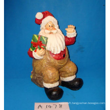 Sitting Santa with Gifts for Christmas Decoration