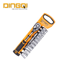 DingQi 12pcs Household Hand Tool Socket Wrench Set
