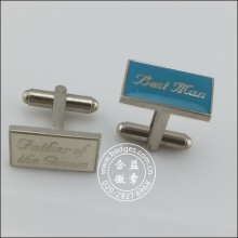 Clothing Accessories, Square Metal Cufflink with Logo (GZHY-XK-085)