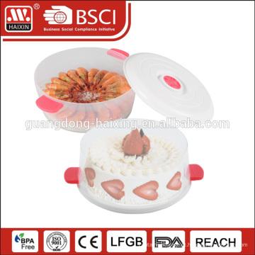Carrinho de bolo plástico durável HAIXIN acrílico cristal pp