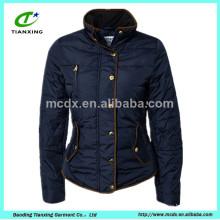New arrive dark blue ladies slim jacket