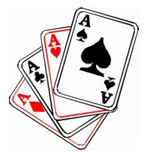 Cartão de papel de impressão personalizado para jogar no jogo 684