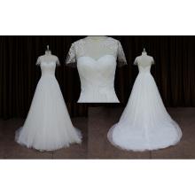 Elegant Short Sleeve Lace Wedding Dress