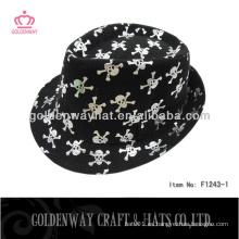 Sombreros del fedora del cepillo del algodón con la impresión del cráneo de la manera para el regalo promocional de los sombreros del partido