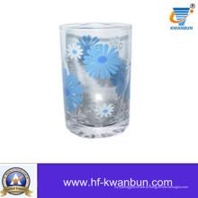 Copo de vidro da flor com Decal Juice Cup Kb-Hn0419