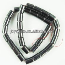 Perlas sueltas naturales del tubo del hematita 6 * 12MM para la joyería