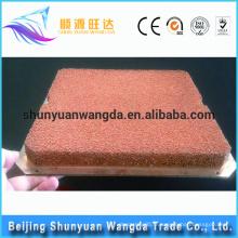 Mousse de cuivre métallique poreuse de haute qualité personnalisée avec plaque de cuivre pour dissipation de chaleur