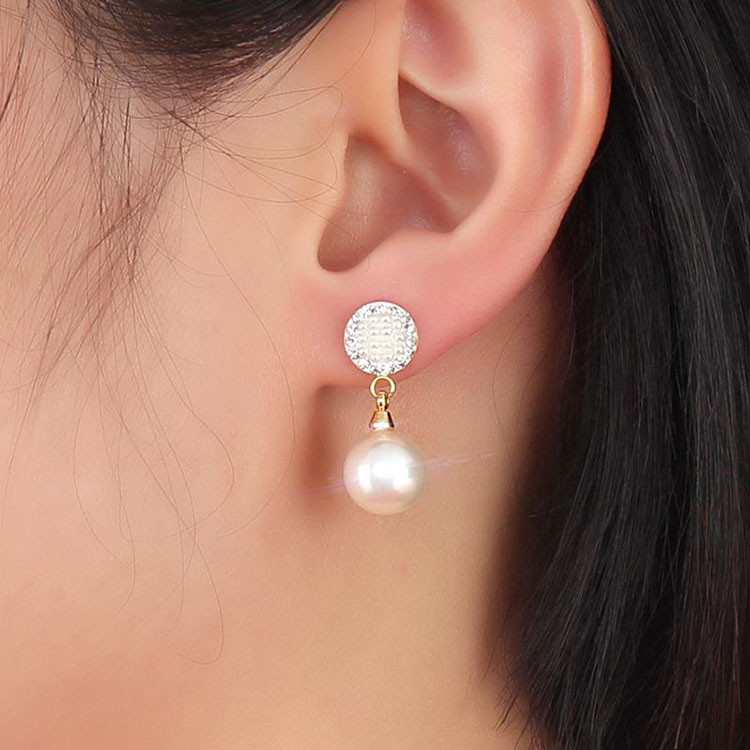 Pearl Earrings Gold Stud