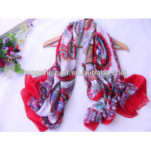 Newest 2013 Large square polyester voile scarf