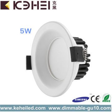 5W LED Dimmable Downlight 2,5 pouces blanc noir