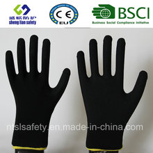 13 Gauge Nylon Liner, Nitrile Coating, Sandy Finish Safety Work Gloves (SL-NS101)