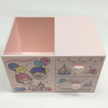 Boîte de rangement en plastique avec tiroir