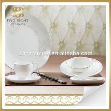 Dinner set hotel used porcelain ceramic dinner plates in guangzhou