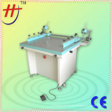 HS-6070 manual screen printing table machine with vacuum and side clamps