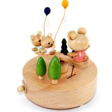 Caja de música de lujo musical de juguete FQ marca escuela amor amistad madera