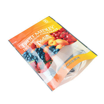 Customized Clear Food Plastic Bag With Stand Up Bottom