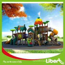Grand jeu d'enfants pour enfants de plus grande conception 2015, aire de jeux pour enfants en plein air avec toboggans en plastique