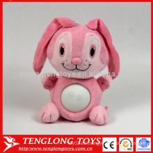 Fabricante animal LED peluche conejo de juguete rosa