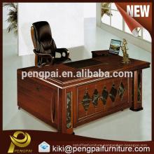 Small size MDF melamine reddish office table office desk design