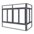 Portas e projetos de alumínio da janela, janelas de deslizamento de alumínio vitrificadas dobro à prova de som
