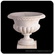 Pots de fleur d'intérieur de pot de fleur de marbre bas à vendre