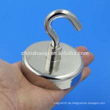 Heißer Verkauf Heavy Duty Starke Schalenform starker Magnet mit Haken