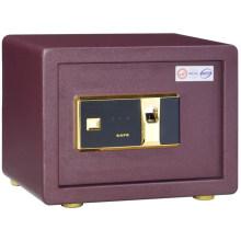 Cerradura de la huella digital de los muebles caseros caja fuerte segura de la pequeña pared para el almacenamiento del dinero