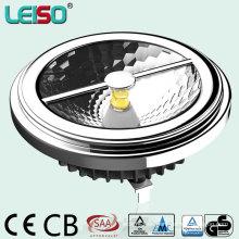 China Mejor tamaño de halógeno 15W LED AR111 con chip CREE y diseño reflector