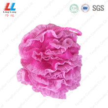Shinning mesh lace sponge bath ball