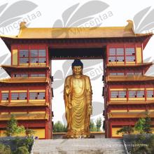 Estatua de Buda femenina de pie de alta calidad de bronce