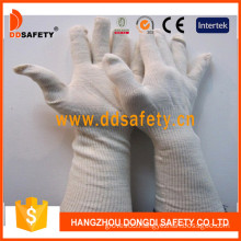 Natural Cotton/Polyester. String Knit., String Knitted Glove (DCK713)