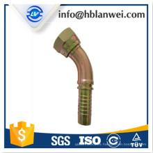 instalación de manguera hidráulica BSP de acero al carbono
