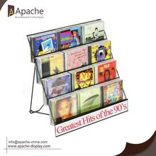 High Quality for Book Displays Black Wire Magazine Display Stand With Pockets supply to Somalia Wholesale