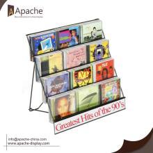 Hot-selling for Magazine Displays Black Wire Magazine Display Stand With Pockets export to Indonesia Wholesale