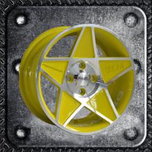 Painted inner groove 15 inch wheel