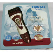 100% waterproof white color electrical lady shaver