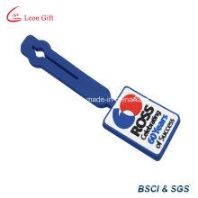 Etiqueta del bolso realzado PVC goma