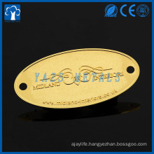Manufacturer engraved embossed logo custom metal label crafts