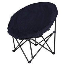 Black Garden Furniture Padded Comfort Lounge camp chair