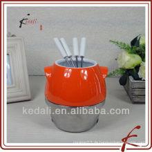 Kerzenkeramik-Fondue-Set