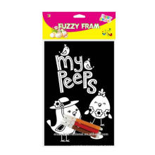 Fuzzy DIY Poster Peeps Decoração de Páscoa