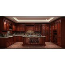 Gabinete de cocina de madera maciza de estilo isleño