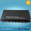 8 fiber port 2 RJ-45 single fiber scart to vga converter