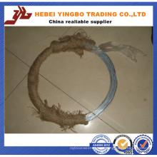 Alongamento: 20% Dingzhou Bwg22 0.7mm 7 kg / Bobina Galvanizado Fio Fornecedor Profissional