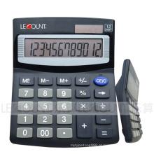Calculadora de mesa de tamanho médio de 12 dígitos com tampa de alumínio (LC209B-2)