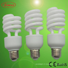 Moitié en spirale en forme Energy Saving Lamp (LWHS007)