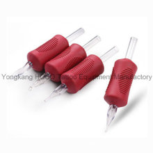 Hot Sale 25mm Disposable Tattoo Soft Grips with Clear Tips